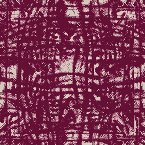 Flowing Totem #3 Cranberry on Taupe