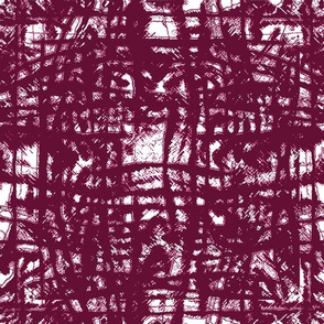 Flowing Totem #3 Cranberry on White