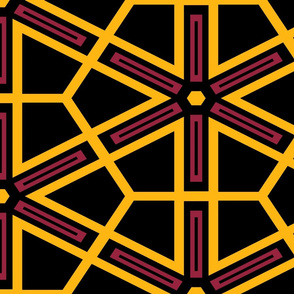 The Black the Yellow and the Red: Geometric Starburst