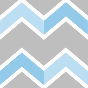 Blue Gray Grey Chevron Tile