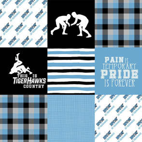 Wrestling//Tigerhawks - Wholecloth Cheater Quilt