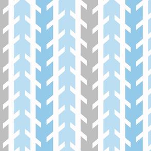 Blue Gray Grey Arrow Chevron