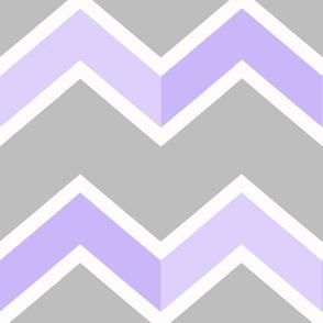 Purple Gray Grey Chevron Tile