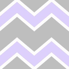 Purple Gray Grey Chevron