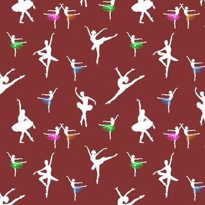 Dancing Ballerinas #6 chocolate maroon