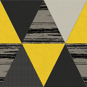 Black Yellow Grey Triangles