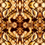 Painterly Brown and Gold Repeat Pattern