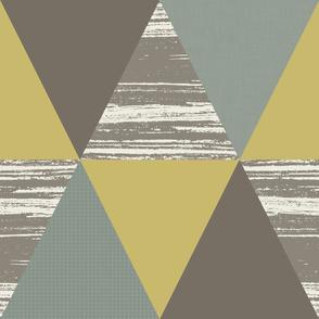 Grey Mustard Green Duck Triangles