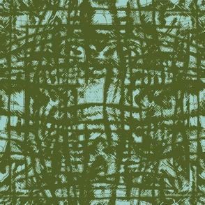 Flowing Totem #3 Olive on Aqua