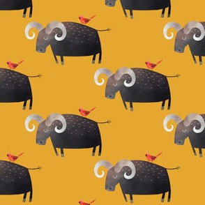 Water Buffalo (gold) Kids Room Bedding