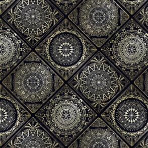 Gold and black tiles--large