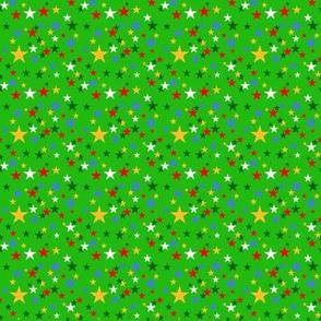 Christmas Stars RWGB