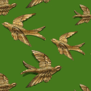 Brass Birds (Green)