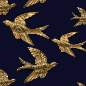Brass Birds (Midnight Blue)