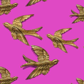 Brass Birds (Pink)