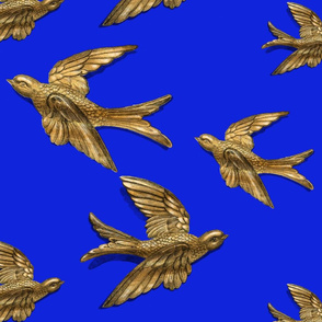 Brass Birds (Royal Blue)