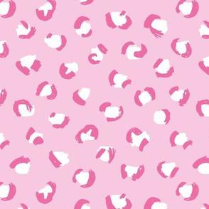 Trendy panther print animals fur modern Scandinavian style raw brush kawaii abstract pink summer