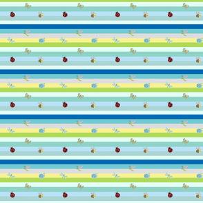 Rainbow blue Tropical Buggles  - SMALL 467