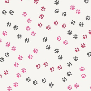Paw Prints of Fitness Cats pink