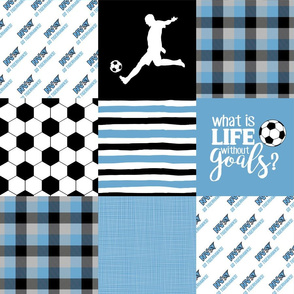 Soccer//Tigerhawks - Wholecloth Cheater Quilt