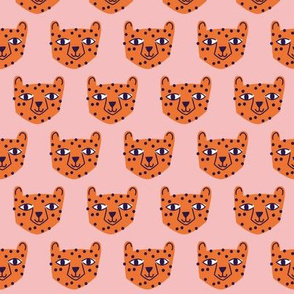 Small - cheetah orange on pink