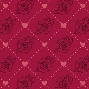 Heart-Rose Grid