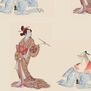 geisha and animal man