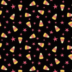 Pink Candy Corn and Stars