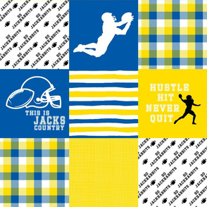 Football//Hustle Hit Never Hit//Jackrabbits - Wholecloth Cheater Quilt