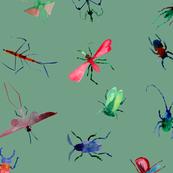 Buzzy Pest Friends on green