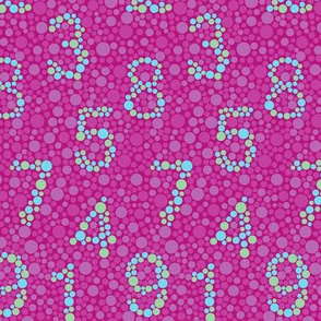 Pink color test by numbers