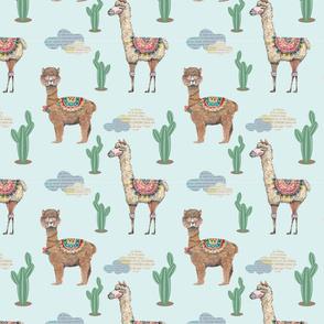 lama and alpaca pattern