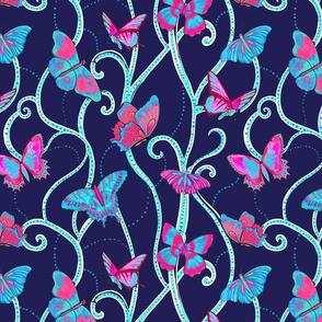 butterflies D blue SP