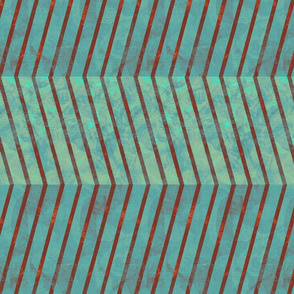 herringbone_teal_rust_aqua