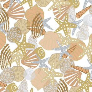 sandy painterly shells