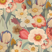 VINTAGE FLOWERS paint by numbers