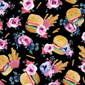 burgers and flowers - Black 2019