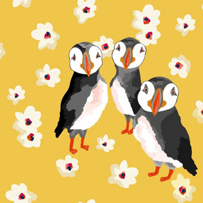puffins paint by numbers sewindigo