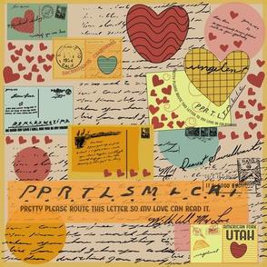 Retro Postcard Young Love