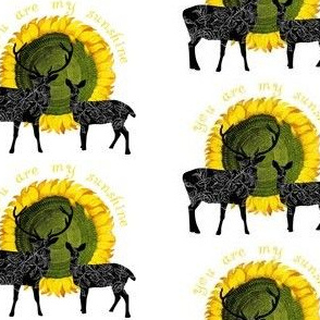 Deer and Sunflower You Are my Sunshine