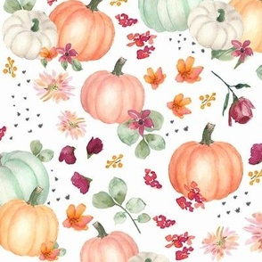 Pumpkin Fabric Wallpaper Home Decor Spoonflower