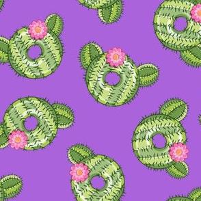 cactus donuts  - purple - doughnut - LAD19