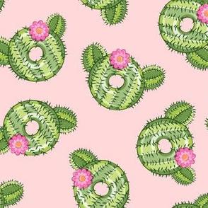 cactus donuts  - pink - doughnut - LAD19