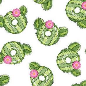 cactus donuts  - white - doughnut - LAD19