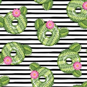cactus donuts  - black stripes - doughnut - LAD19