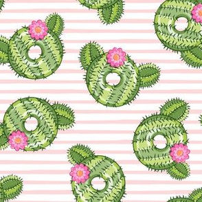 cactus donuts  - pink stripes - doughnut - LAD19