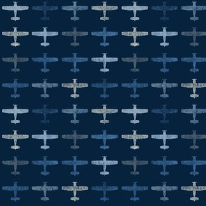 Blue tiny airplane pat