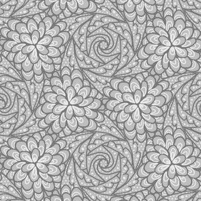 Flowing Rosette - Gray