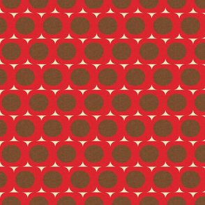Dots and Triangles Red