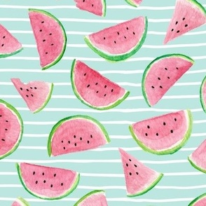 Watermelon Slices (crystal blue stripes)